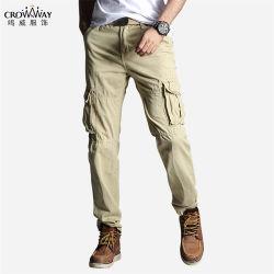 Pantaloni casuali del carico del cotone di alta qualità del nero all'ingrosso su ordinazione del Mens