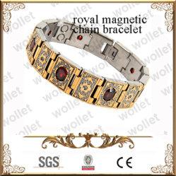Plaqué or Stinless Rubine Bracelet magnétique en acier