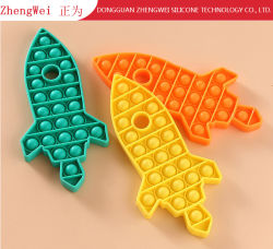Hot Wholesale Soft Silicone Educational Push Bubble Brain Puzzle Toy Voor kinderen