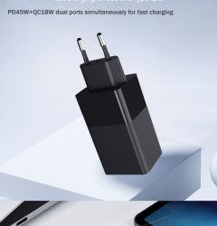Adattatore di vendita caldo di corsa 65W con il caricatore della parete del caricatore del USB velocemente per il iPhone Huawei MacBook Pro ecc di Samsung