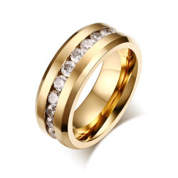강저를 가진 수정같은 결혼 반지를 접착제로 붙이는 텅스텐 탄화물 닦는 센터