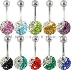 豪華な腹臍のリングボディ宝石類(5637)