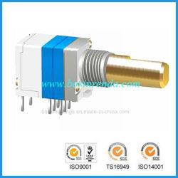 Potentiomètre rotatif de précision de 8 mm avec interrupteur pour équipement radio interphone