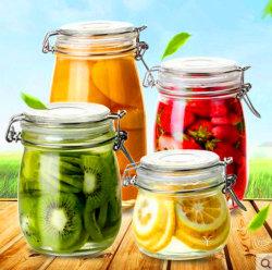 Logo personnalisé en verre scellées bidons Jam Jar Pickles Pickles bocal en verre