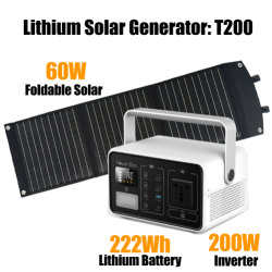 Портативный генератор солнечной электростанции встроенный 220V инвертор источник питания в чрезвычайных ситуациях