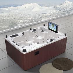 Vasca calda dei 6 S.U.A. della sede della balboa del mulinello esterno della STAZIONE TERMALE con la TV, WiFi per la funzione della Jacuzzi