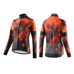 Le ressort de l'automne femmes Vêtements de Cyclisme Sportswear Road Mountain Bicycle Bike OUTDOOR Full Zip Maillot à manches longues pour le cyclisme