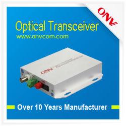 1-CH Video + 1-CH Reverse Data Optical Transceiver, Multi-Mode, 2km