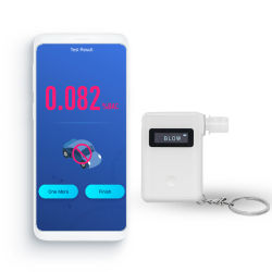 키 체인을 포함한 디지털 호흡 알코올 테스터
