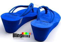 Леди мягкая EVA обувь дизайн с высоким каблуком опорной части юбки поршня