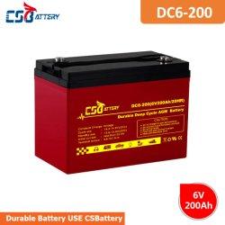 Batteria profonda del AGM del ciclo di lunga vita di Csbattery 6V200ah per la telecomunicazione/l'Emergenza-Illuminazione/Solare-Bts-Stazione
