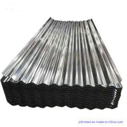 La vente en gros d'acier de couleur feuilles de carton ondulé feuille métallique bardage tôle de toit pour les matériaux de construction en acier galvanisé feuille