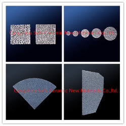 O filtro de espuma de cerâmica de carboneto de silício com bom efeito de filtragem para fundição
