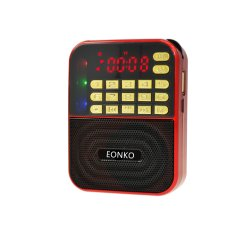 Mini radio di Bluetooth di formato con l'indicatore luminoso di Am/FM/TF/USB/Disco