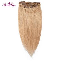 El visón 2020 nuevos cabellos lisos pueden teñida y cloro peruano con Clip en el cabello