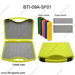 適用範囲が広いMOQプラスチッククリックロックマルチカラー携帯用ケースの塩水釣吹流しはえボックス09A-Sf01
