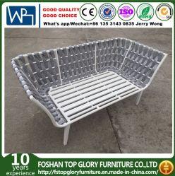 Aluminiumsitzsofa der rahmen-Riemen gesponnenes im Freien Möbel-2