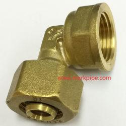 El racor de latón de compresión para PE-al-tubo PE de 16 mm.