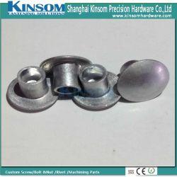 Tête bombée de clous personnalisé de l'aluminium 6063 F22 Semi rivet tubulaire