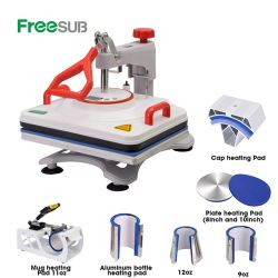 Freesub Combo 8 en 1 de la máquina de prensa de calor camiseta, taza de transferencia de calor de pluma de la máquina de impresión P8200