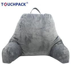 Custom Baixa Lombar Encosto calçadas Shrredded Leitura de espuma travesseiro com braços