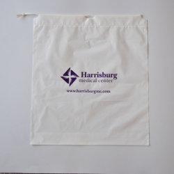 졸라매는 끈 비닐 봉투, 밧줄 고품질을%s 가진 플라스틱 쇼핑 백