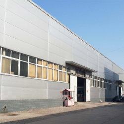 キャノピ・シェッド付きの完全被覆スチール構造倉庫
