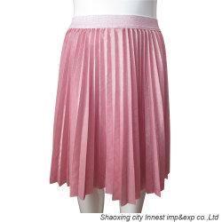 Nouveau design de style Hot Pink tissu Lurex Fashion jupe plissée pour fille
