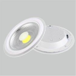 Voyant LED pour panneau de verre rondes à l'intérieur 6W 9W 12W 18W 24W Lampe de plafond Fabricant Prix éclairage du panneau d'usine COB lumière vers le bas