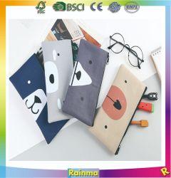 Lienzo simple bolsa de almacenamiento de la bolsa de plumas de gran capacidad creativa para los estudiantes cuadro Lápiz