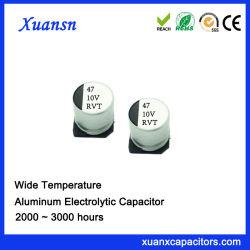 중국 SMD 47UF 10V 전해질 축전기 칩 유형