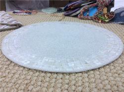 工場直接販売の処理およびカスタムビーズのマットのハンドメイドのコップのMatdishesディスクパッドの夕食のフラグ表マットの茶表マットの熱絶縁体のパッド71
