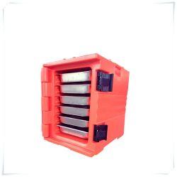 warmer oder kühlerer Nahrungsmittelbehälter-Isolierplastikanlieferungs-Kasten des Unterhalt-90L