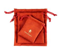 스웨이드 선물 드로스트링 백 벨벳 가젯 핸드폰줄 홍보를 맞춤형으로 제공합니다 스웨이드 파우치