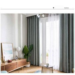 Fournisseur de la Chine nouvelle conception aspect lin Polyester rideau d'indisponibilité