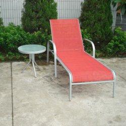 Textilene piscina cadeiras de praia em alumínio de Braço Chaise Lounge