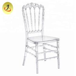 Limpar a resina transparente e festas de casamento Napoleon Crown Cadeira de Cristal