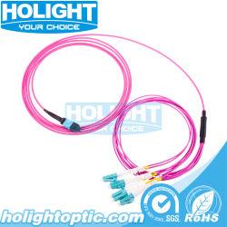 De Kabel van het flard mpo-LC 8 Vezel 2.0mm Om4 ranselt