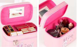 Cute cat Boîtes de rangement de maquillage en cuir femmes colorés Sac cosmétique