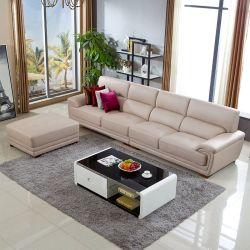 革ソファーの3シートの革ソファーのNapaのヘッド層の革ソファーライト贅沢なソファーの居間の家具の装飾Hotelhb01-59