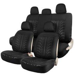 Ledernes schwarzes Auto-Sitzdeckel-volles Set
