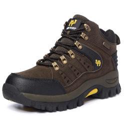 2019 Usine de chaussures en cuir en daim de gros de couples étanche extérieur de la cheville du désert de l'escalade des chaussures de montagne des bottes de randonnée