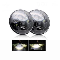 Projecteur LED 12 V faible/Feux de route pour les motards Projecteur LED Jeep chariot