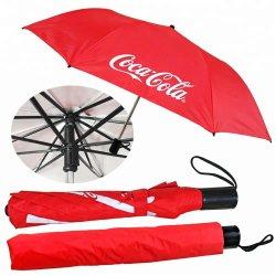 2 UV 코팅 직물을%s 가진 접히는 비 우산 그리고 Adversting 수동 접히는 우산