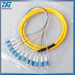 LC/UPC PC Singlemode 12 コア光ファイバ Pigtail 1.5m またはカスタマイズ