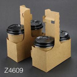 Z4609 Titular de la Taza de Café Taza de café de papel desechables titular de la comida para llevar bebidas beber café té café envasado de leche