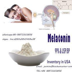 Melatonine verbessern Schlafengesundheitspflege-Produkt-Anti-Aging wohler Schlaf-rohes Puder 73-31-4