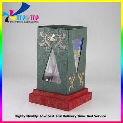 Custom матовое ламинирование жесткий картон косметический духи упаковки подарок бумага дисплей окна из ПВХ бумаги .