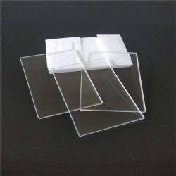 Plaat van het Glas van het Kwarts van de Rechthoek van de hoge Zuiverheid de Transparante voor het UV Genezen