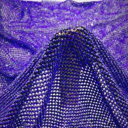 Hotfix Rhinestone сетку черного цвета синий Sequin Crystal свадебные платья